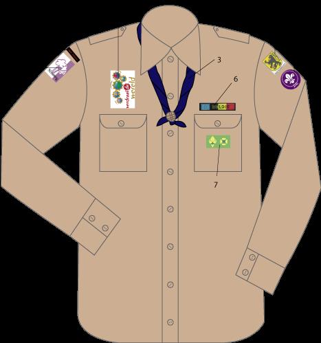 Afbeeldingsresultaat voor uniformhemd scouts